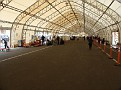 A large shade/tent structure was constructed for incoming and debarkation passengers.
