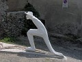 IM000865 Squating Traveller Facing the Grand St Bernard by Andrea Granchi 2005 (In Etrout)