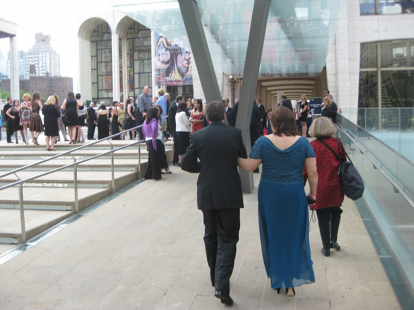 Walking into Lincoln Center