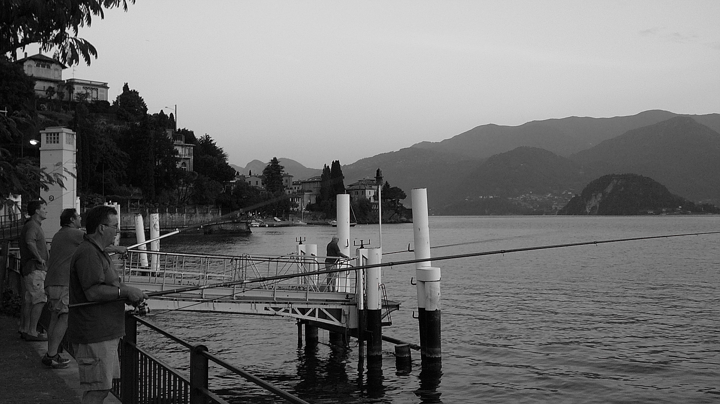 Fishing on Lake Como