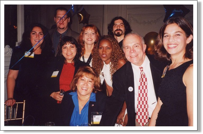 The Class of 1980 at A&D's 65th Birthday event, 2001