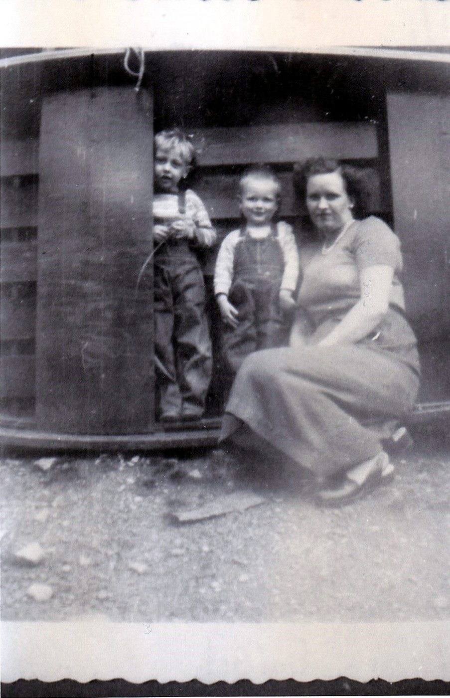 """(36) - Jerry Wayne West, Clarence Luther """"Luke"""" West, and Mildred Carleen AUSTIN West."""