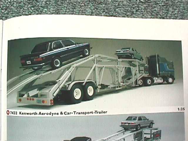 7432 Kenworth K100 Aerodyne and cartransport trailer Revell 1-25