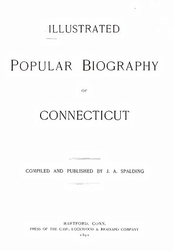 Biography of Connecticut - 003 - TITLE PAGE