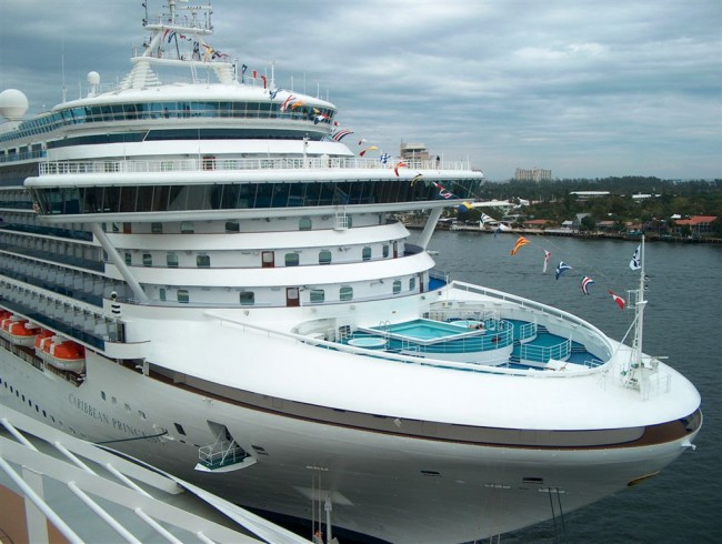 Caribbean Princess, adjacent to Opera in Port Everglades