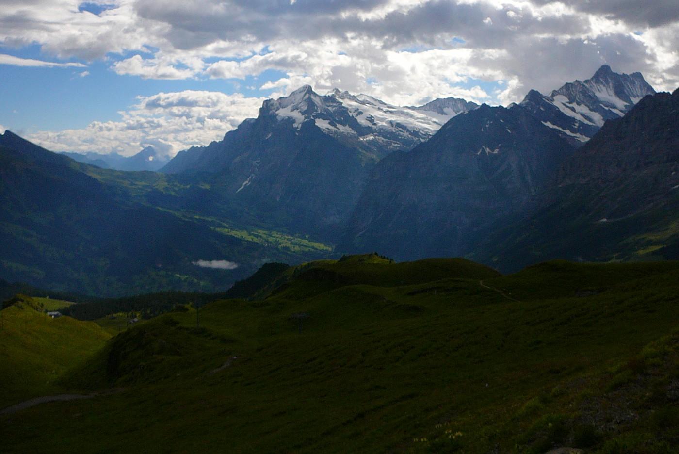 Peaks part of Eiger Mountain Range - Near Interlaken