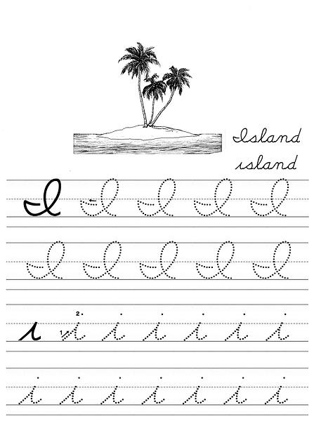 Photo: alphabet coloring tracers i cursive   alphabet ...