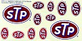 STP Logos Unknown Decal Maker possibly JNJ or Blue Ridge   705