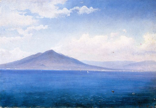 Bay of Naples, Vesuvius, from Sorrento [c.1860]