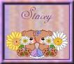 Friends with flowersStacey