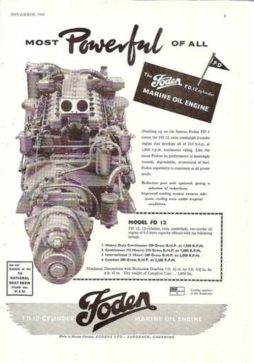 model fd 12 marine boat oil engine 1954