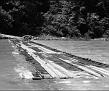 36-Leatherwood Ford's low water bridge in high water season, June 1979