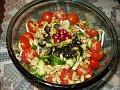 my salad(4 сорта трав орехи оливки гранаты еще кое что и соус дижон)