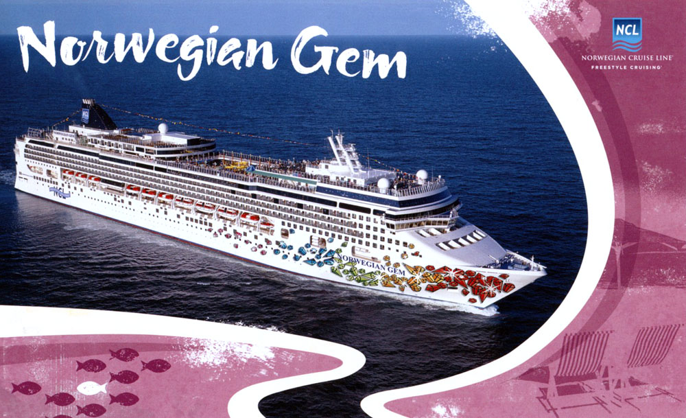 Norwegian Gem Postcard