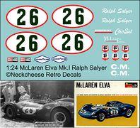 RCA-022 1:24 McLaren Elva Salyer-CroSal DKK 60,- / € 8,80 + postage