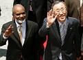 Pres Préval & Sec ONU, Ban Ki-Moon