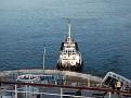 CRAMOND at the stern of QM2