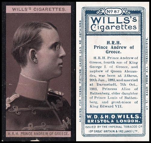 1908 Wills European Royalty #087