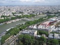 View of the Seine River from atop the Eiffel Tower.