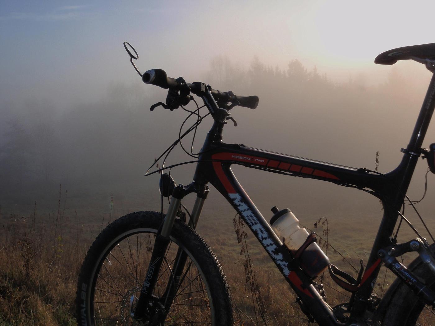 Nebel auf dem täglichen Weg zum Büro