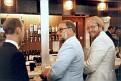 Scott Foll at bar at Dickens Fellowship, Salford