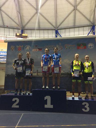 Яковенко А  и Касенова К ,  2 место на Кубке России в гонках на треке