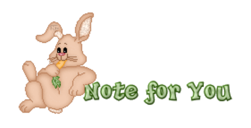 Note for You - BunnyWithCarrot
