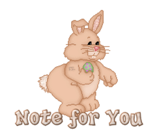 Note for You - BunnyWithEgg