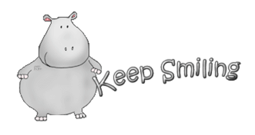 Keep Smiling - CuteHippo2018