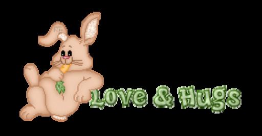 Love & Hugs - BunnyWithCarrot