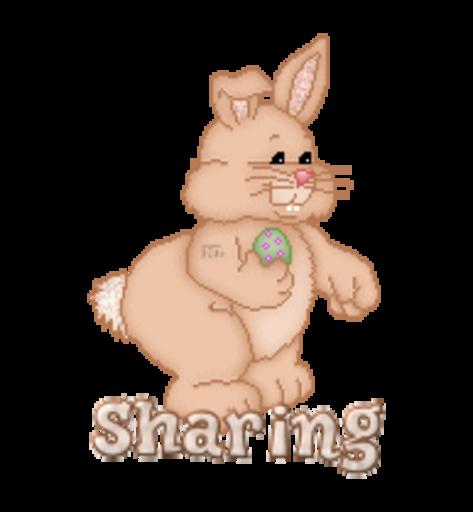 Sharing - BunnyWithEgg