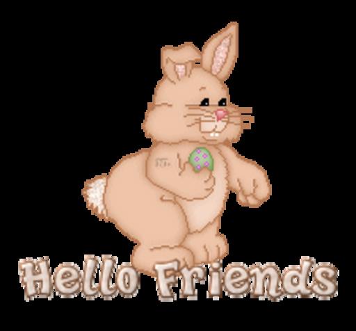 Hello Friends - BunnyWithEgg