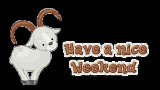 Have a nice Weekend - BighornSheep
