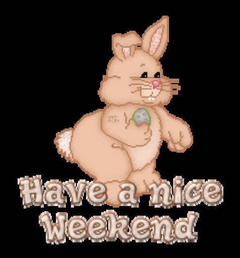 Have a nice Weekend - BunnyWithEgg