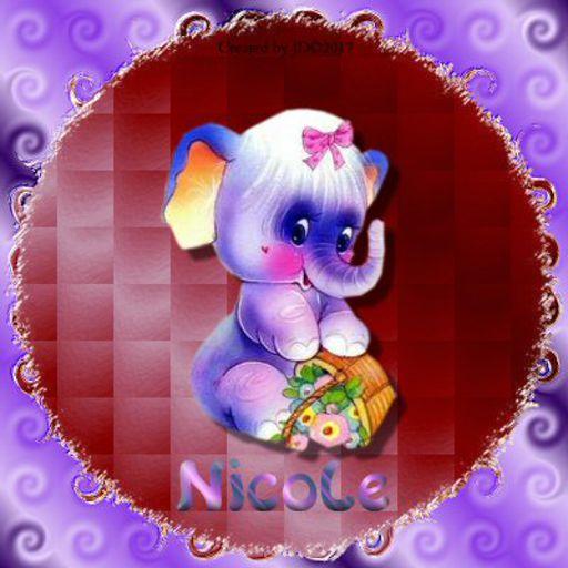 Nicole - Purple Elephant-JudyD052118