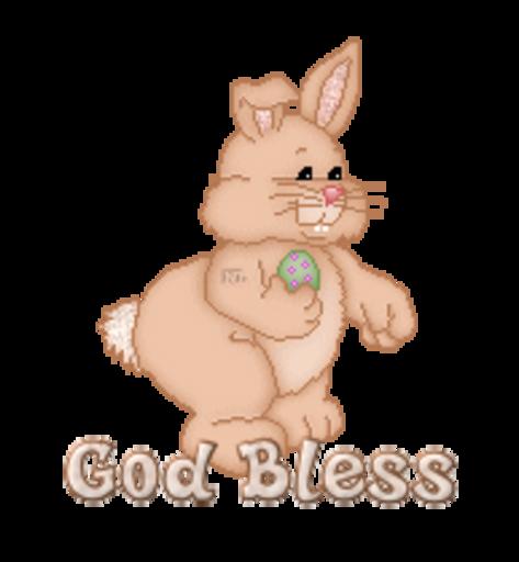 God Bless - BunnyWithEgg
