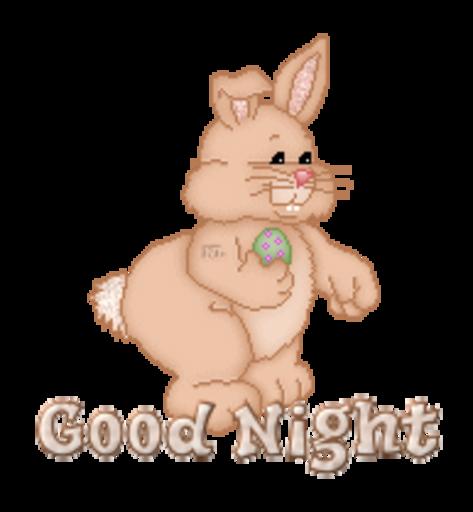 Good Night - BunnyWithEgg