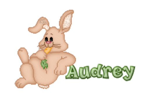 Audrey - BunnyWithCarrot