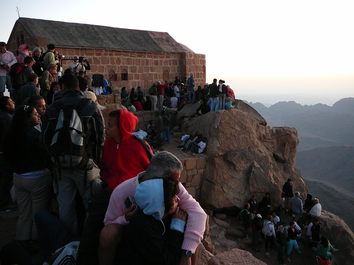 Sunrise and Mob on Mt. Moses