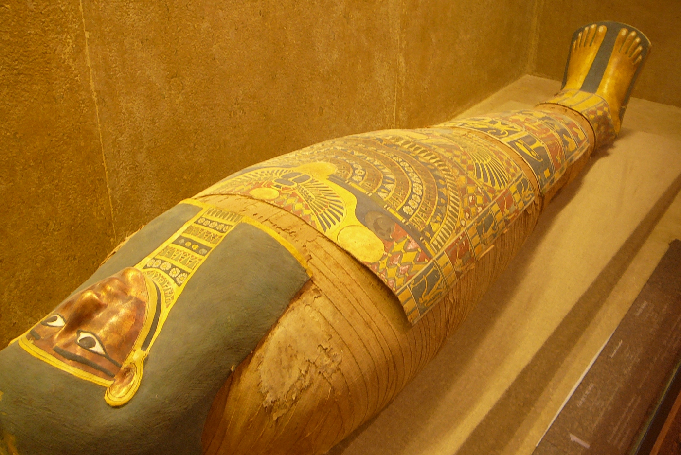 Sarcophagus with Gold Plated Face