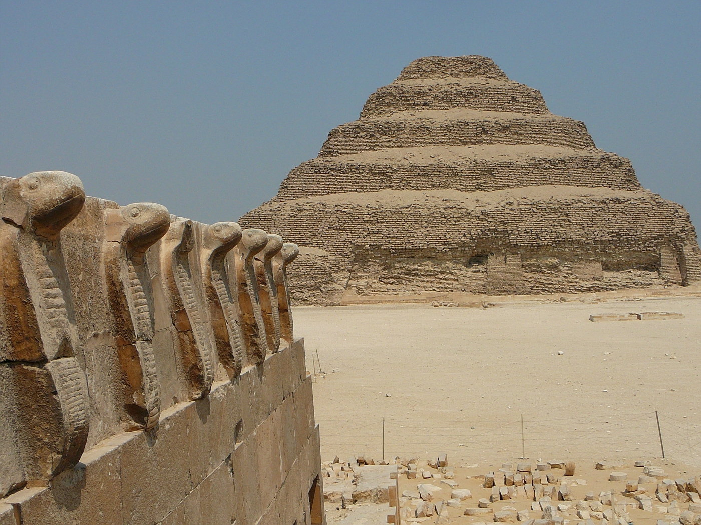 Step Pyramid of Zoser w/ Oldest Cobra Symbols