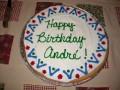 Andre's birthday cake