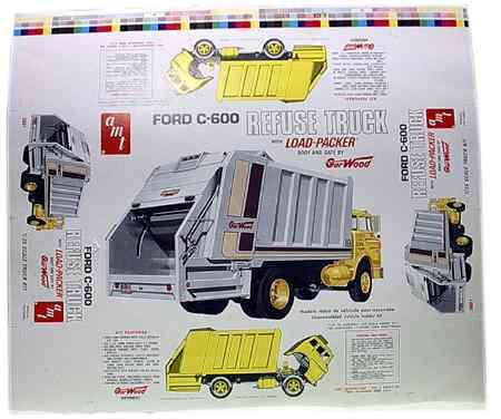 0000 Ford C600 refuse truck AMT 1-25 box