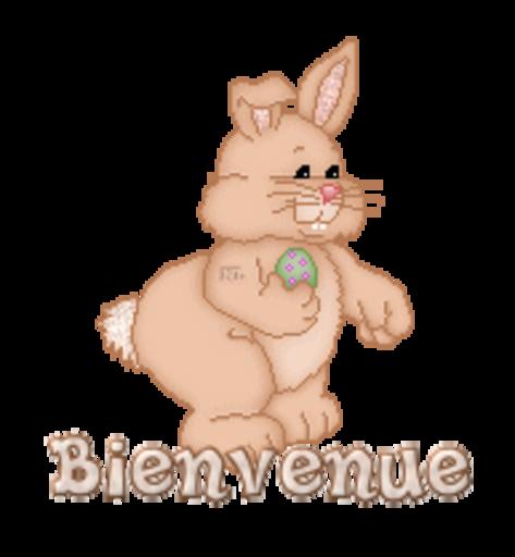 Bienvenue - BunnyWithEgg