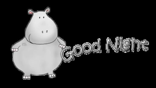 Good Night - CuteHippo2018