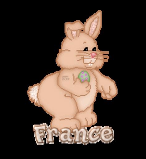 France - BunnyWithEgg