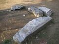 dispersed burial stones in the University Park