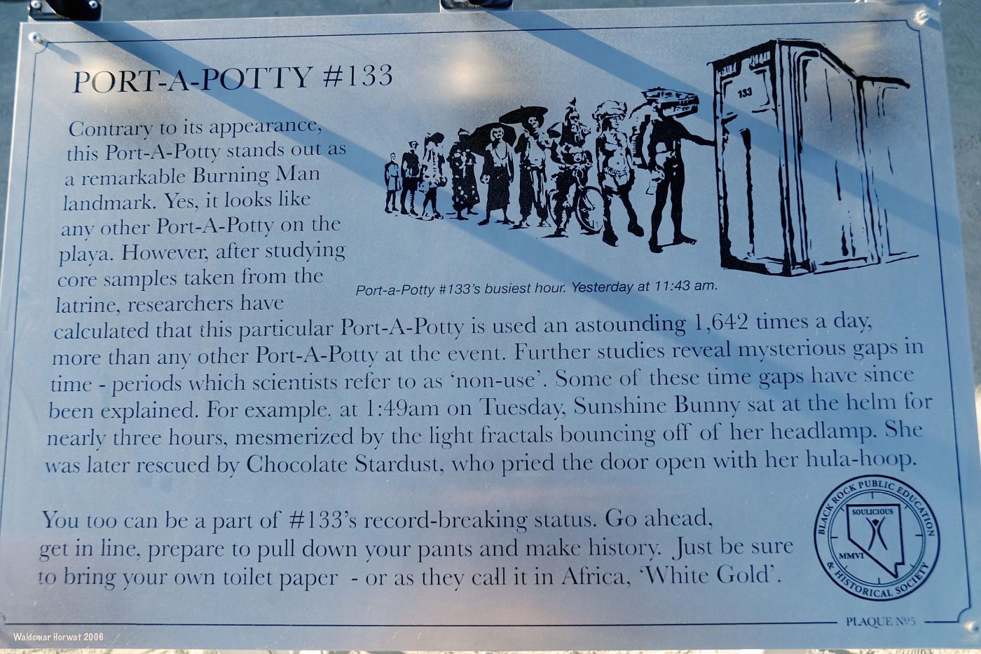 Port-a-Potty #133