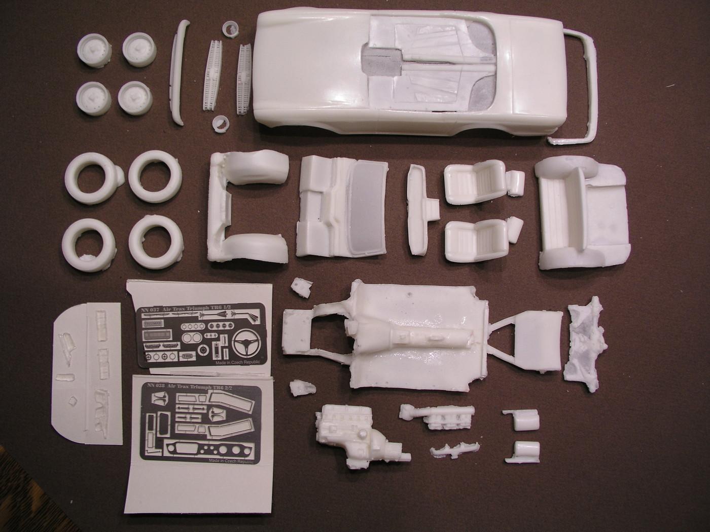 Triumph TR6 AirTrax resinNphotoetch  BillAustinPic28