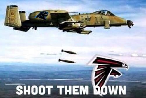 A-10 shooting Falcons